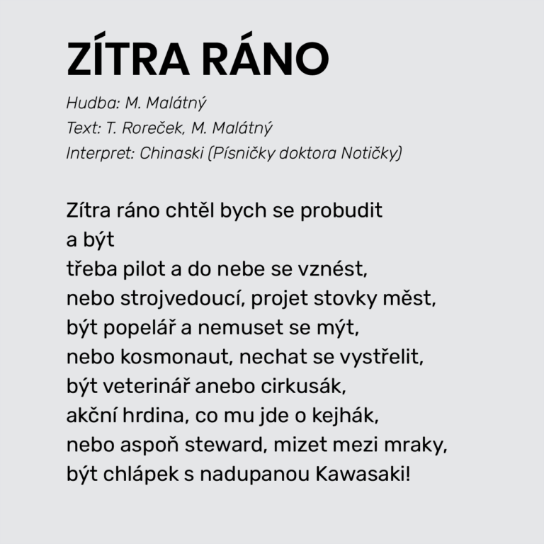 ZÍTRA RÁNO