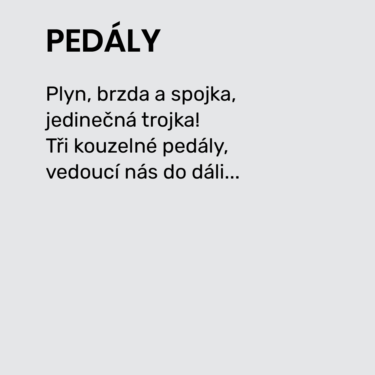 PEDÁLY